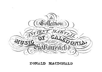 Frontpiece from Donald MacDonald's Piobaireachd